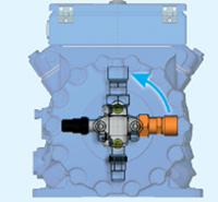 Различные варианты размещения запорного вентиля на всасывании поршневого компрессора BOCK HG4/465-4