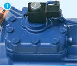 Ступенчатое регулирование производительности 50-100% 4-х цилиндрового полугерметичного компрессора BOCK HG4/465-4