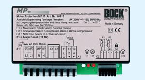Электронный блок защиты поршневых полугерметичных компрессоров Bock MP10