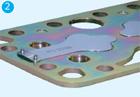 Клапанная доска холодильного полугерметичного компрессора BOCK со стороны клапанов нагнетания