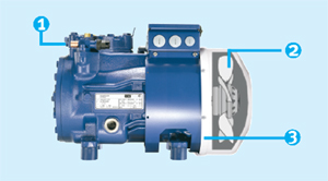Полугерметичный поршневой компрессор BOCK HA22P/160-4 с воздушным охлаждением