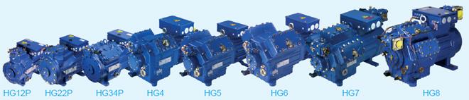 Компрессор Bock серии HG c электродвигателем, охлаждаемым всасываемым газом