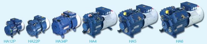 Компрессор Bock серии HА c электродвигателем, охлаждаемым воздухом