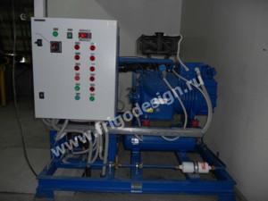 Холодильная установка для охлаждения этиленгликоля
