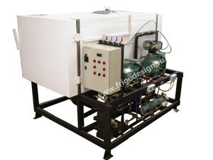 Низкотемпературная камера с каскадной холодильной машиной