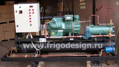 Холодильная установка для охлаждения воды на компрессоре BITZER