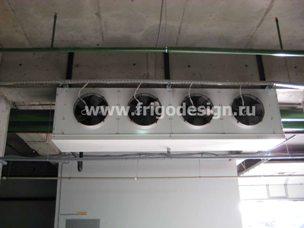 Склад оборудованный воздухоохладителем и конденсатором CROCCO.