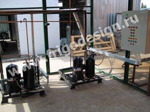 Холодильные установки для кондиционирования воздуха в цехе на компрессорах Copeland