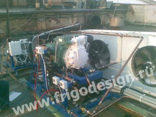 Холодильная установка для камеры заморозки теста