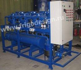 Энергосберегающая многокомпрессорная холодильная установка на поршневых компрессорах BITZER для склада