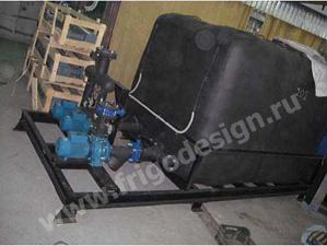 Холодильная машина на винтовом компрессоре J&E Hall для охлаждения технологического оборудования производства биопрепаратов Фригодизайн