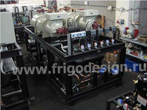 Сборка установок охлаждения жидкостей на компрессорах J&E Hall и гидромодулей на производственном участке «Фригодизайн»