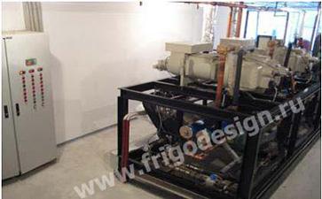 Холодильная машина производства Фригодизайн для ледового поля дворца спорта
